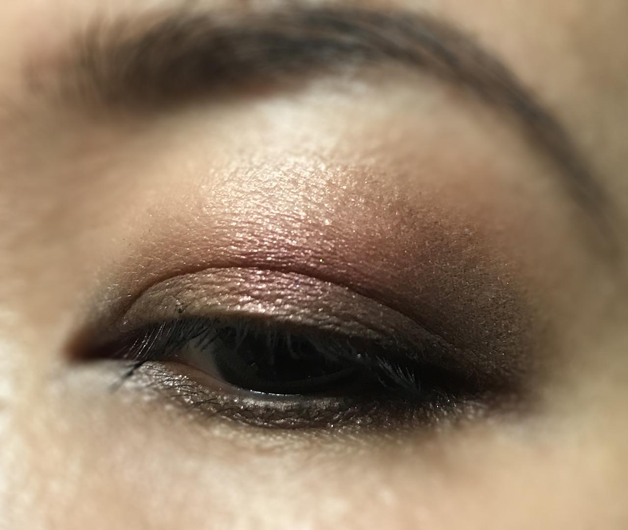 Lunasol Eye Shadow Quad EX-01 Warm Beige Nuance eye makeup look