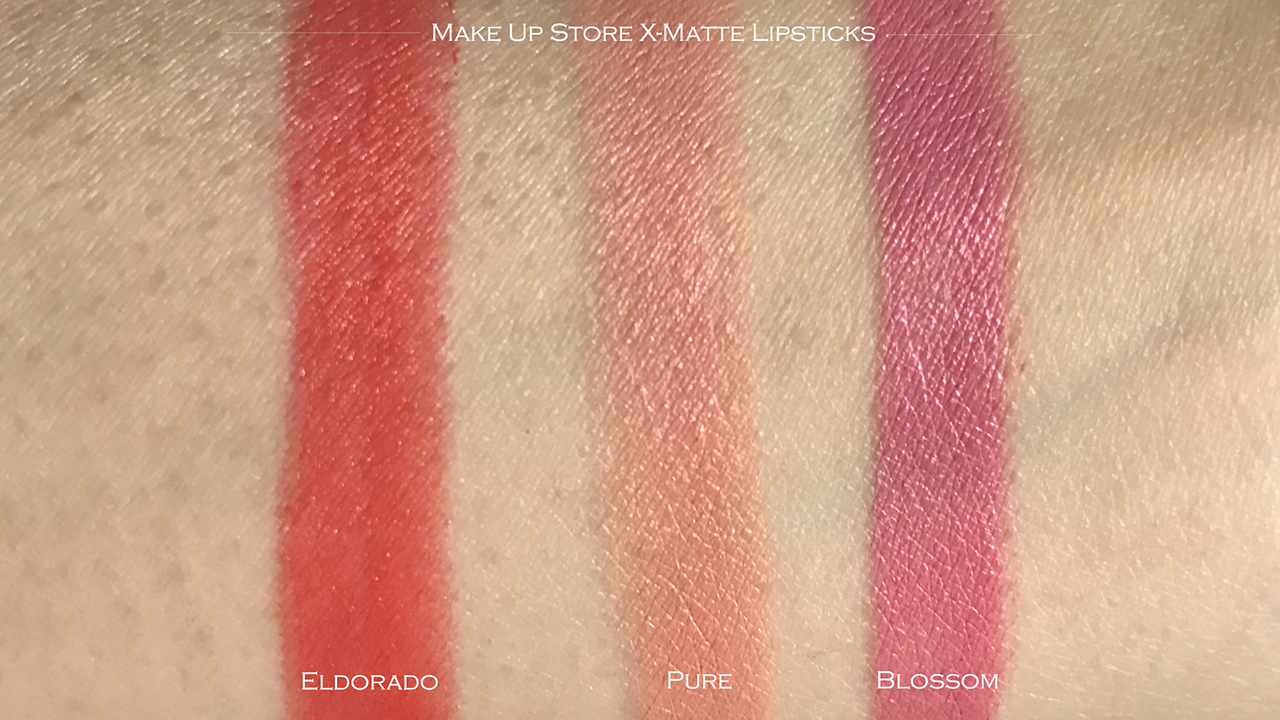 Make Up Store X-matte Lipstick swatches