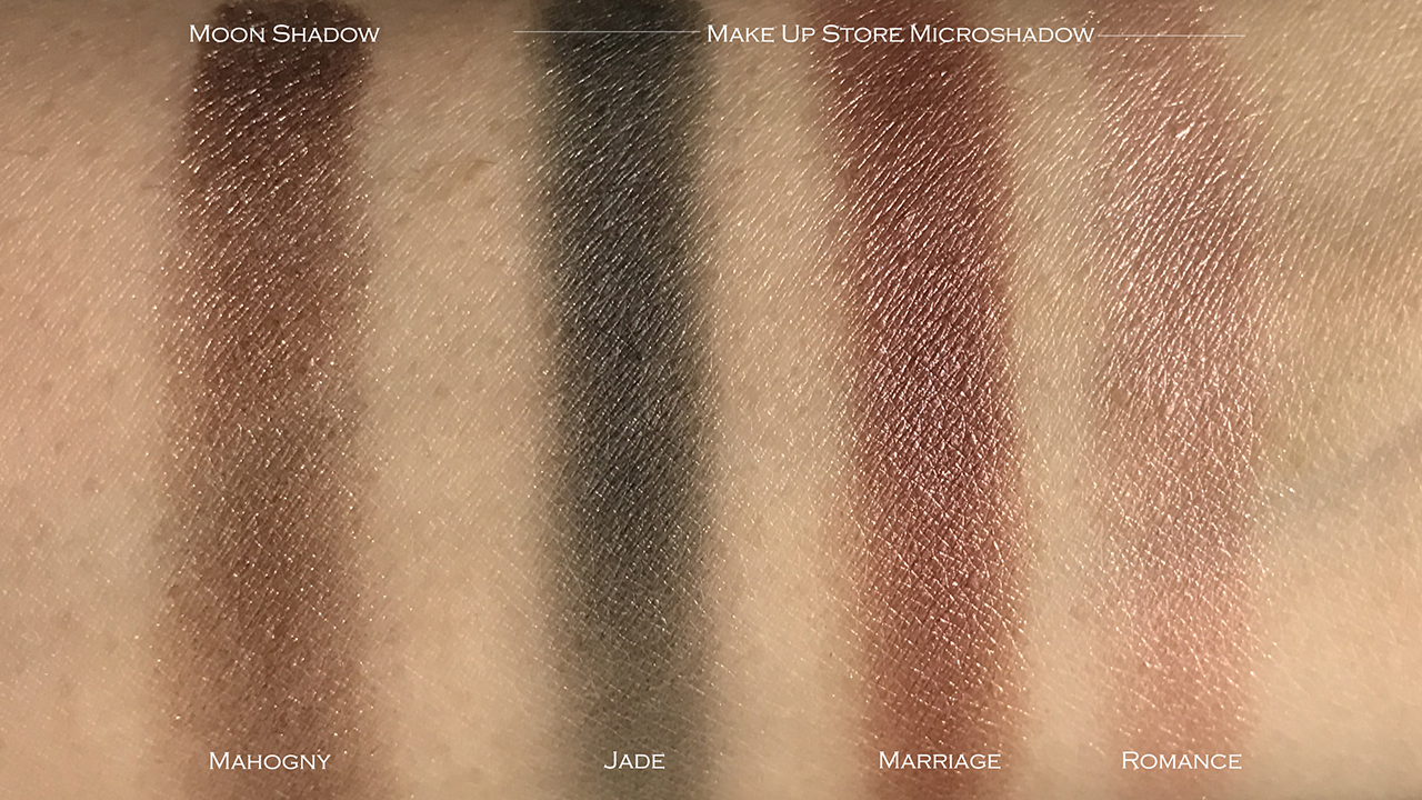 Make Up Store eyeshadow swatches