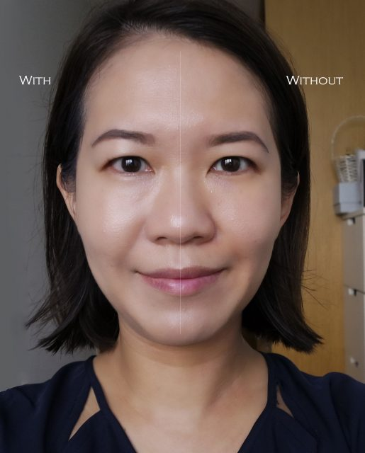 THREE Angelic Synthesis Foundation Serum before after