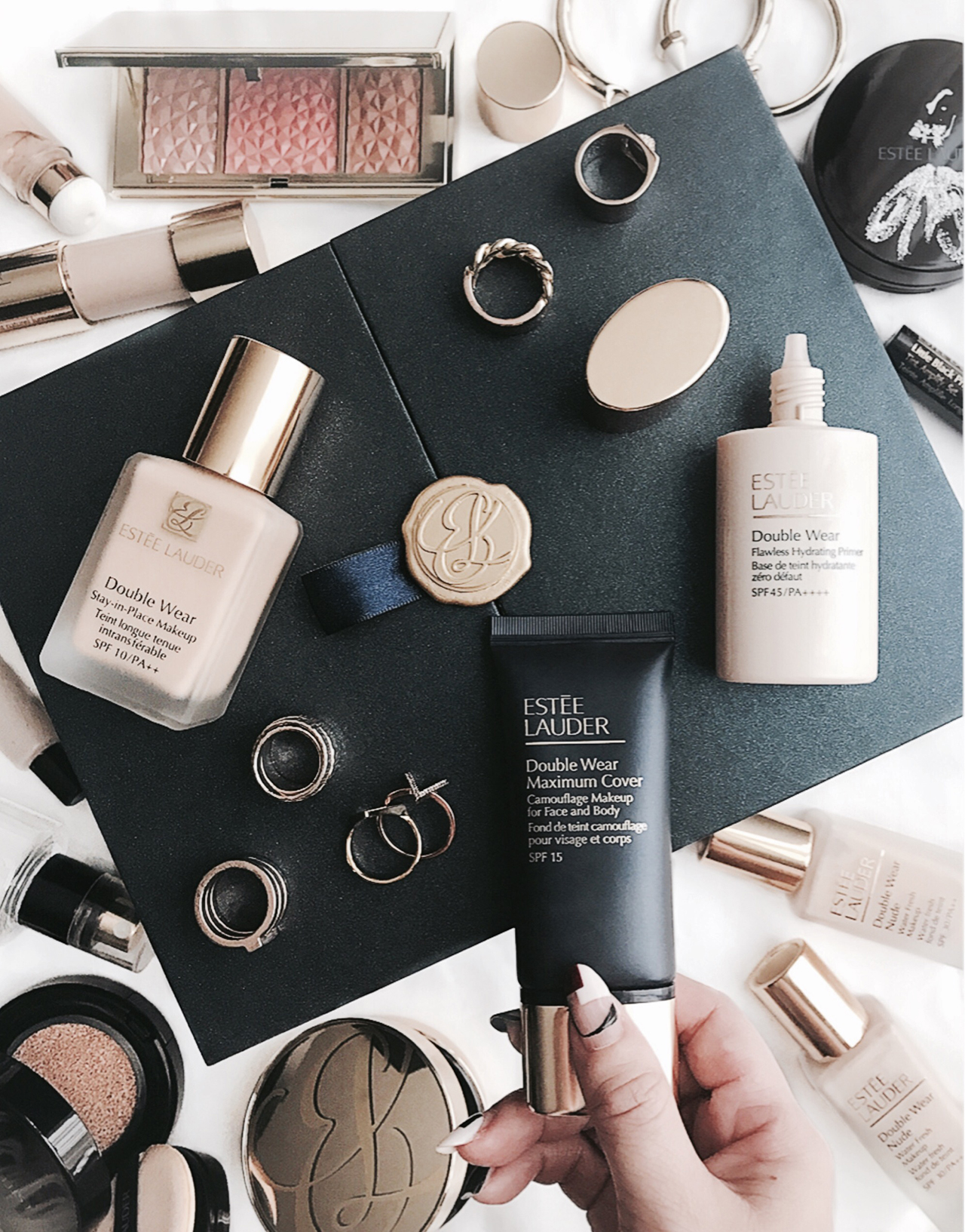 Estee Lauder Double Wear Flawless Hydrating Primer & Maximum Cover Foundation