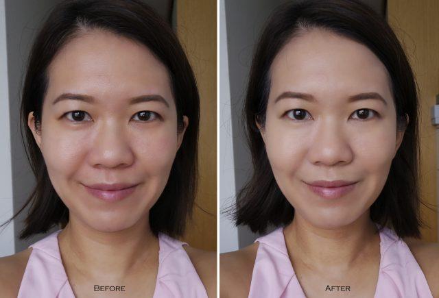 IT Cosmetics CC Cream Oil-free Matte before after comparison