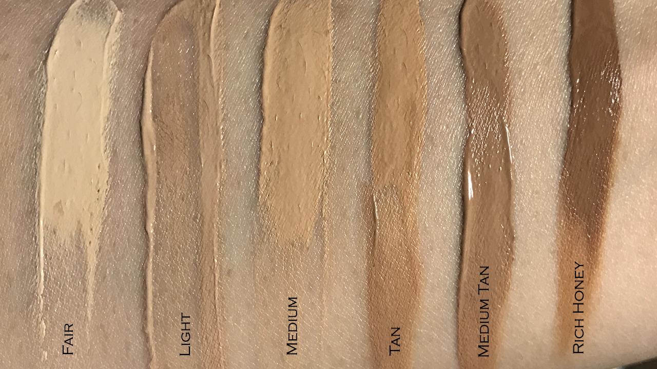 IT Cosmetics CC Cream Oil-free Matte swatches