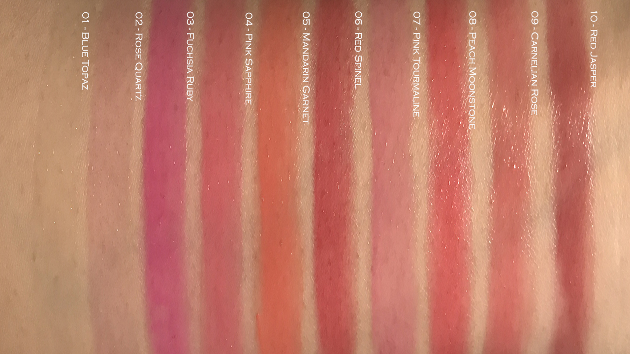 Laneige Stained Glasstick arm swatches