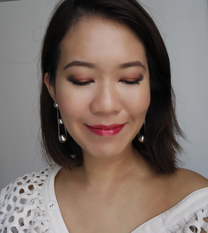 SUQQU Designing Color Eyes Yuuakane makeup look