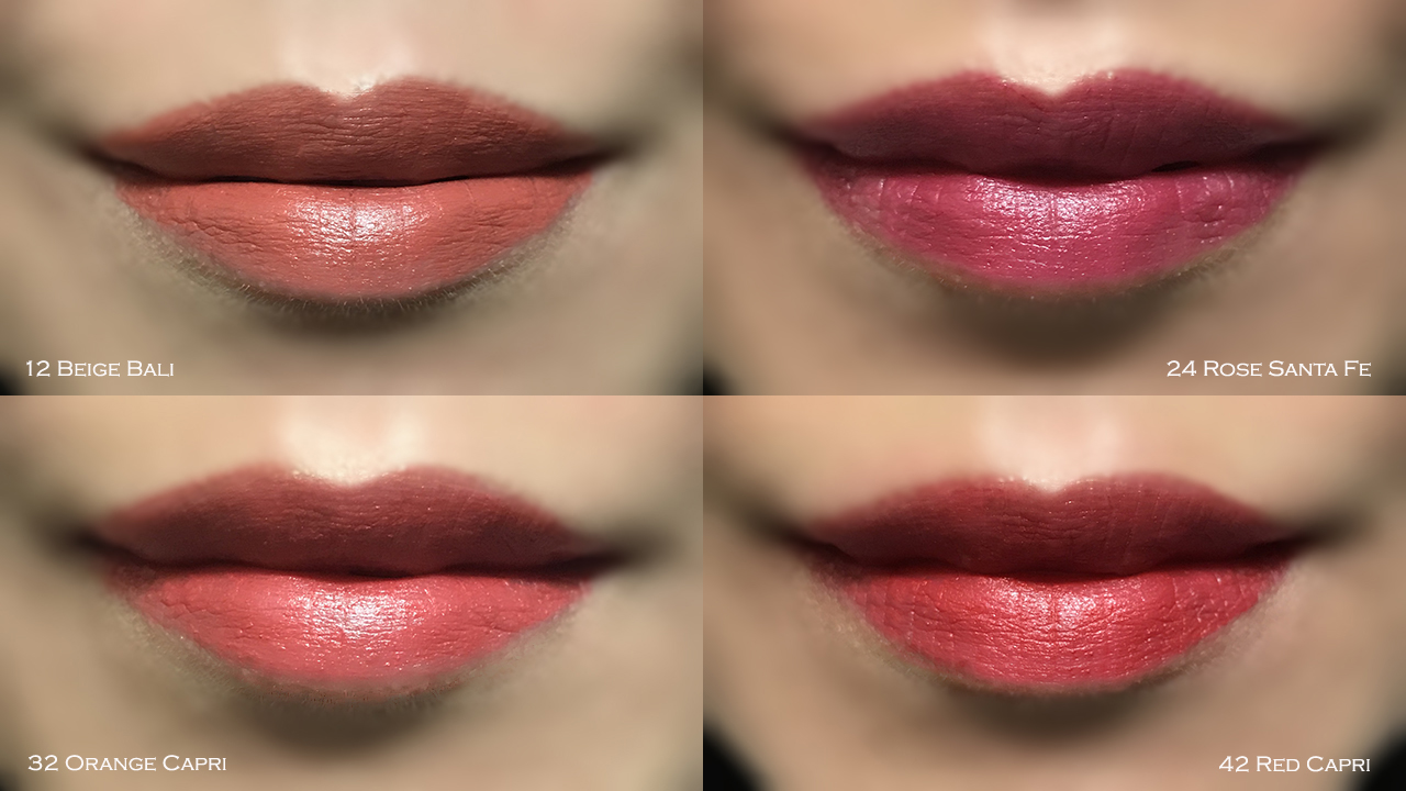 Sisley Le Phyto Rouge lip swatches