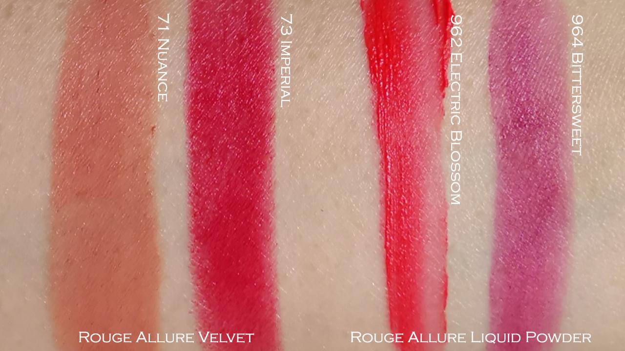 Chanel Spring 2019 Vision d'Asie L'Art du Detail lipstick swatches