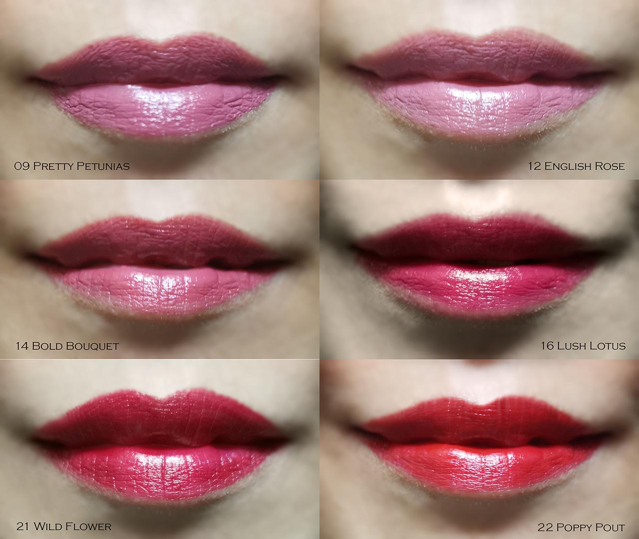 Origins Blooming Bold Lipstick lip swatches