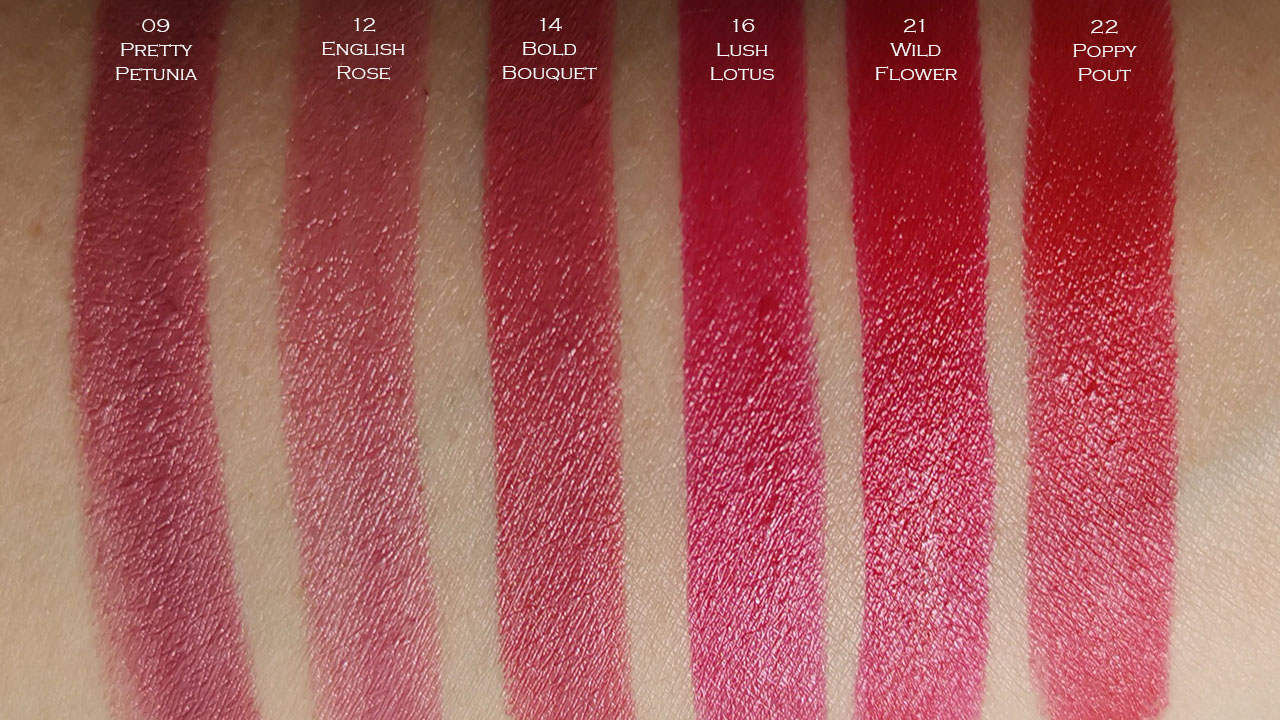 Origins Blooming Bold Lipstick swatches