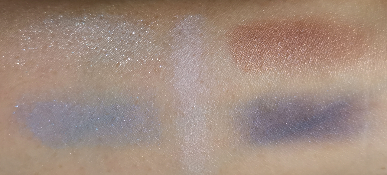 Kanebo eyeshadows 08 crystal blue swatches