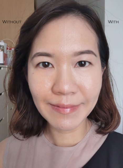 Guerlain LEssentiel Foundation before after comparison