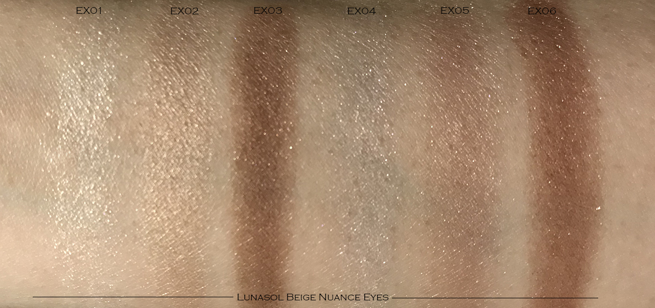 Lunasol Beige Nuance Eyes swatches