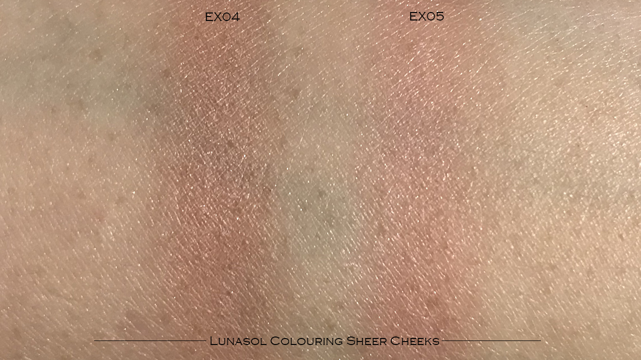 Lunasol Colouring Sheer Cheeks swatches