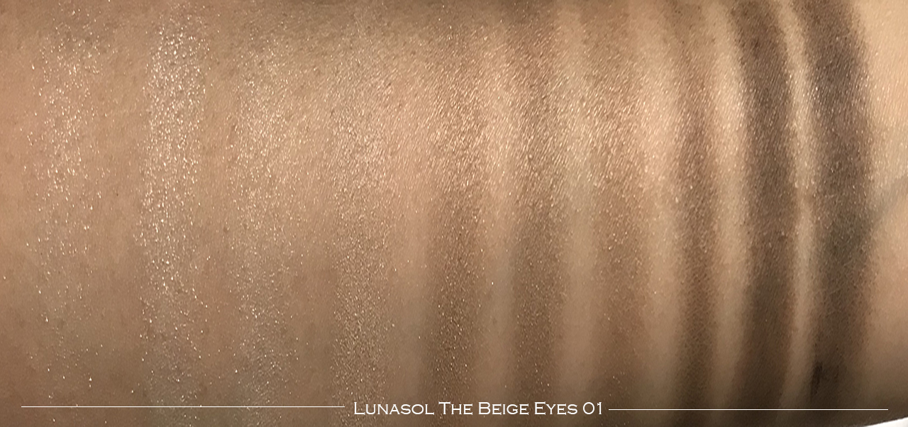 Lunasol The Beige Eyes 01 swatches