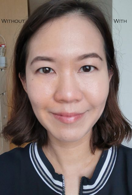 Shu Uemura Unlimited Foundation before after comparison