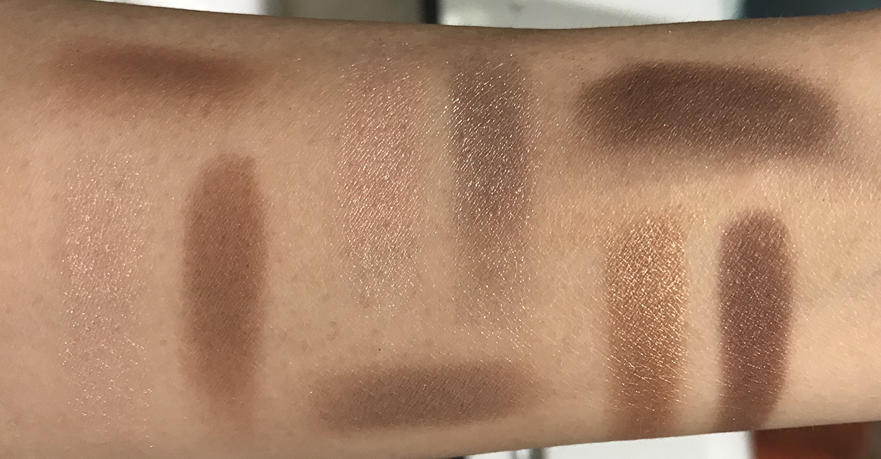 Chanel Les Beiges Natural Eyeshadow Palette swatches