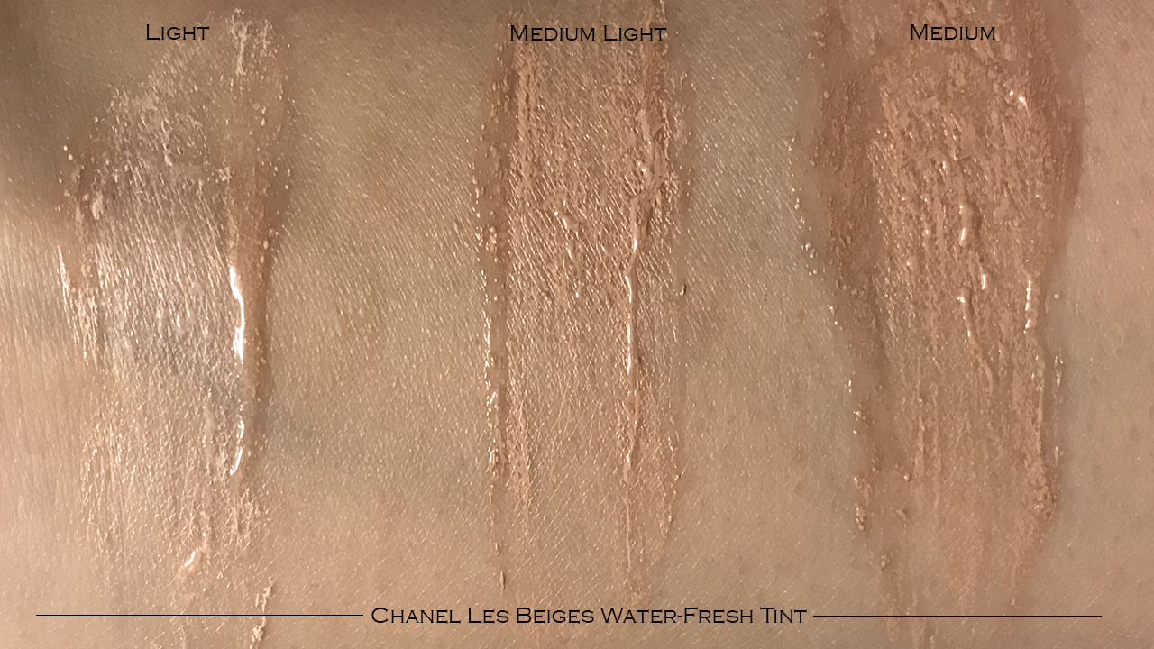 Chanel Les Beiges Water Fresh Tint swatches