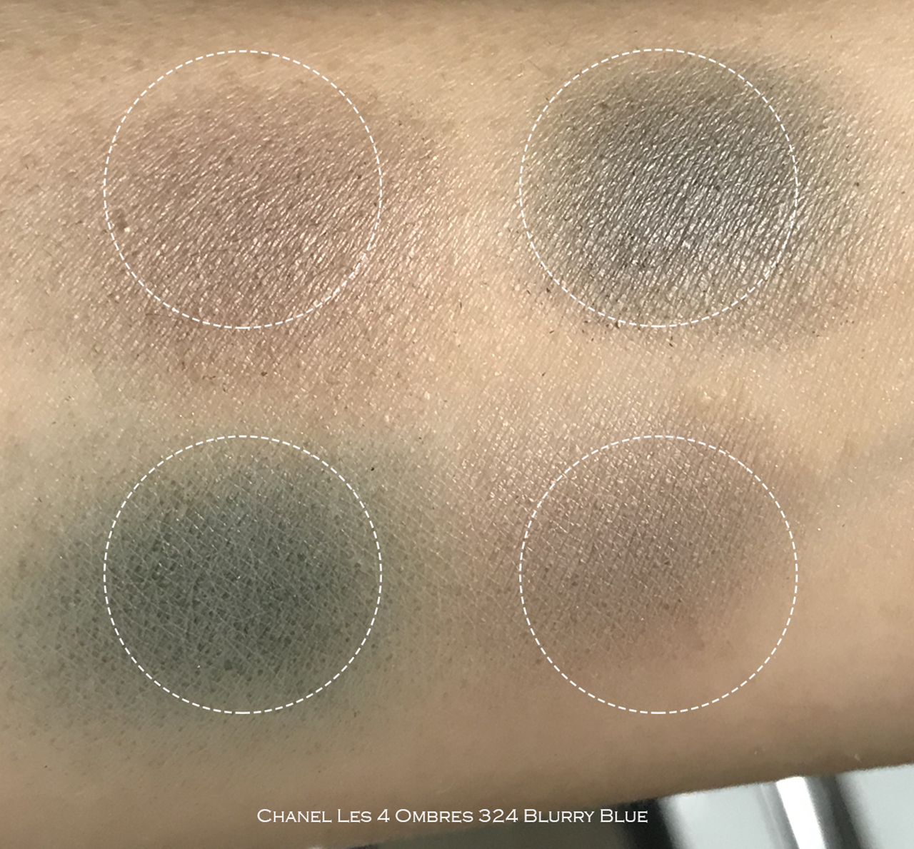 Chanel Blurry Blue swatches