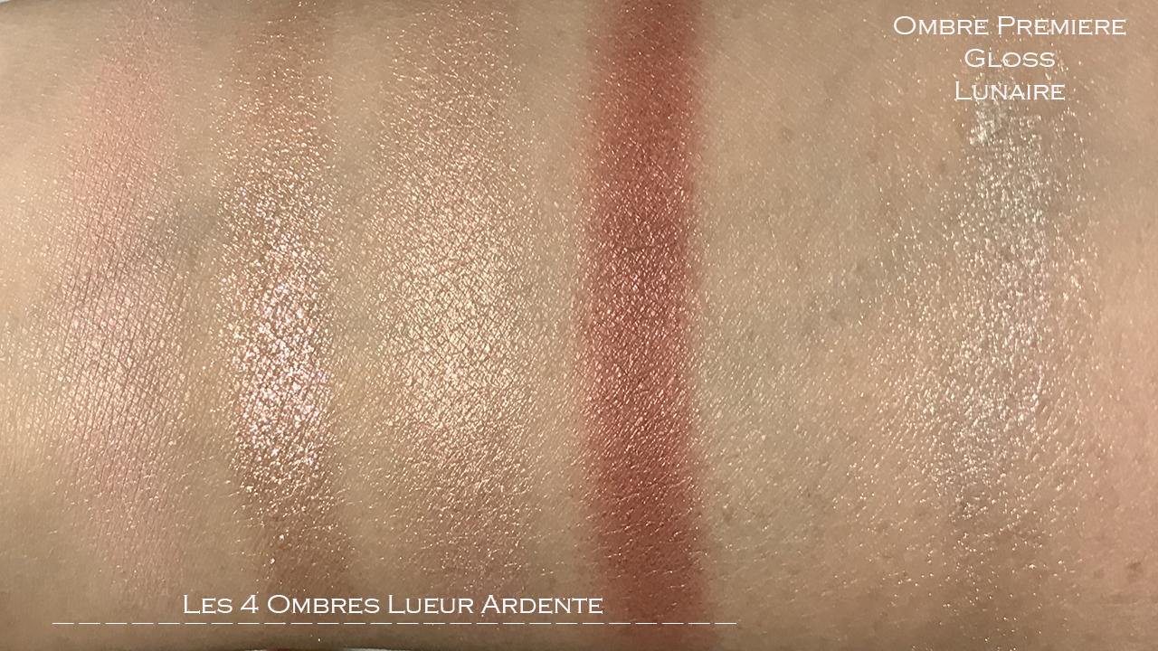 Chanel Lueur Ardente, Ombre Premiere Lunaire swatches