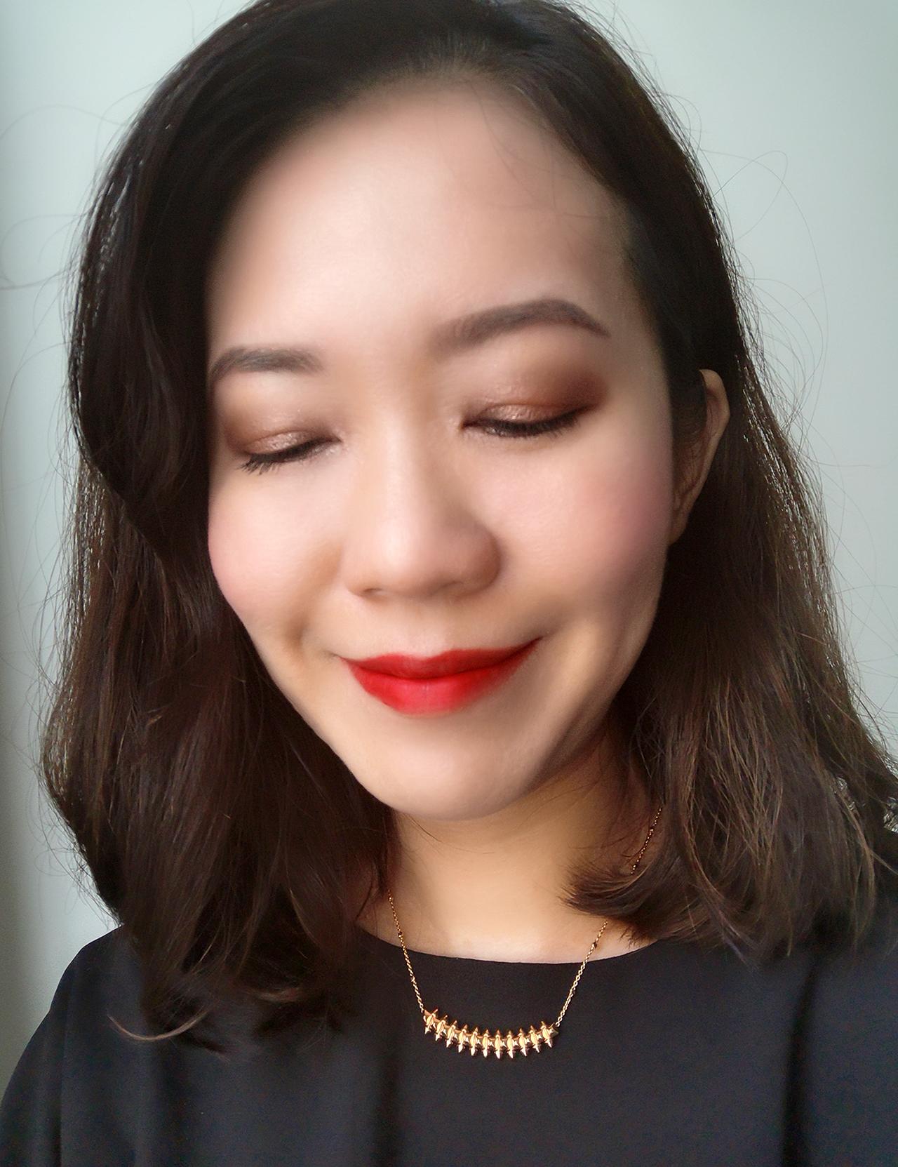 Maison Kitsune x Shu uemura camo eyeshadow palette, Rouge Unlimited Supreme Matte RD163