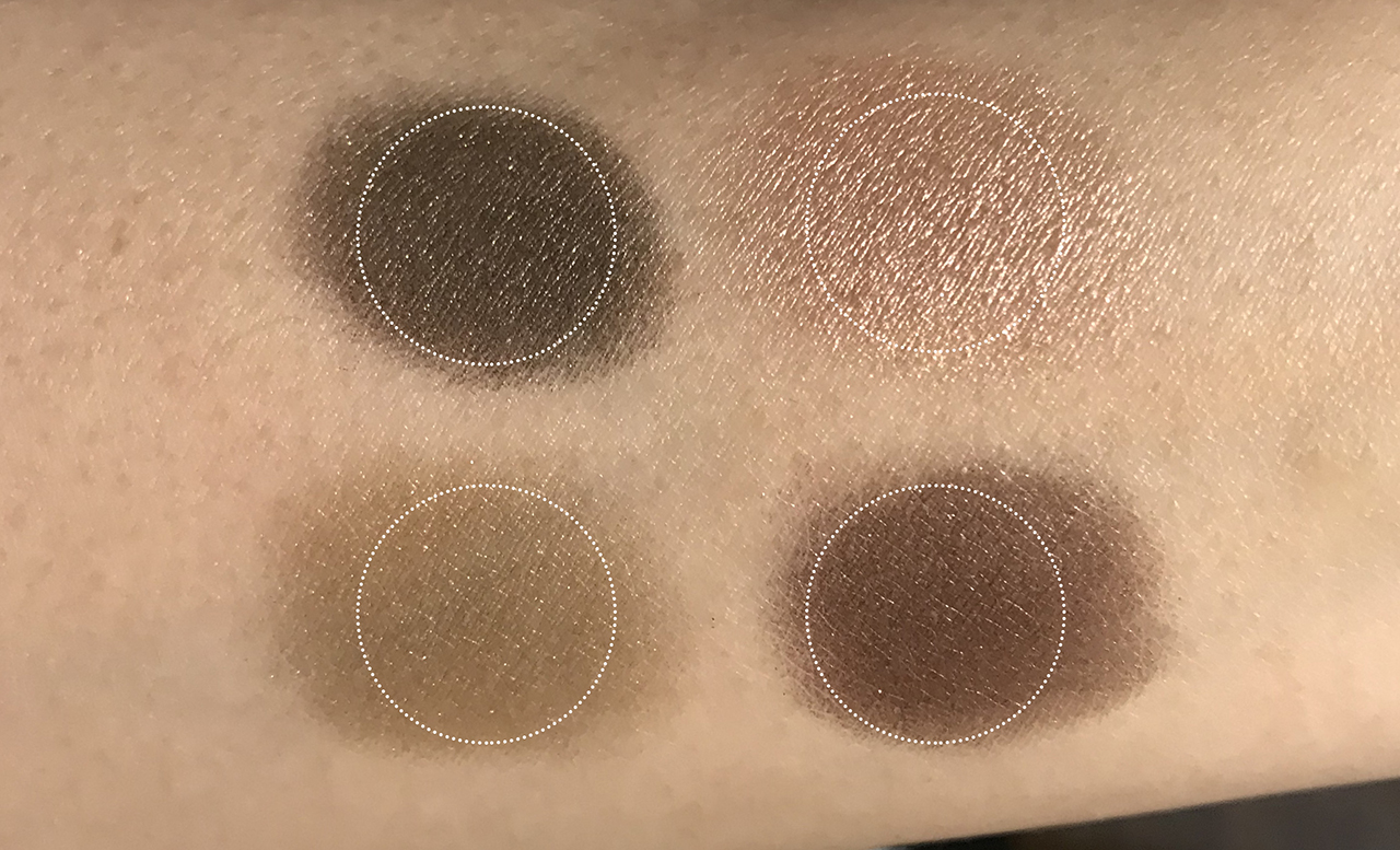 Chanel Les 4 Ombres Lumiere et Opulence swatches