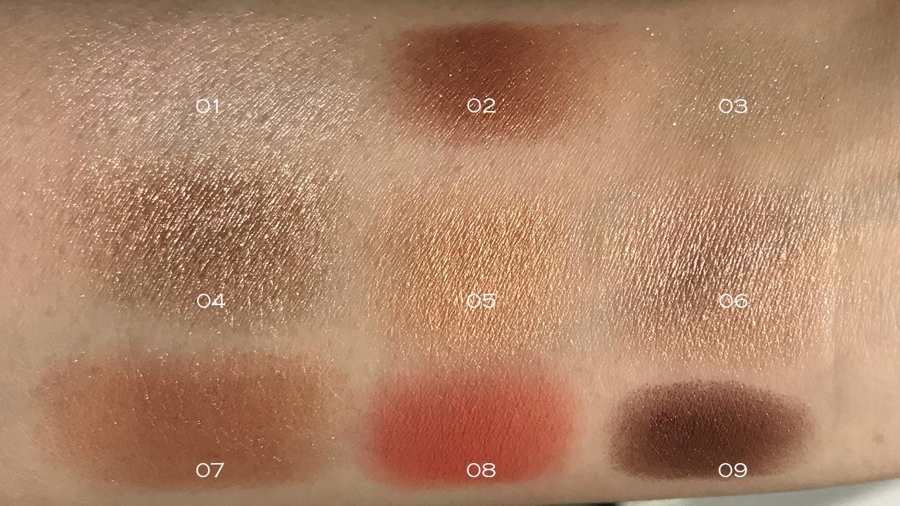 Shu Uemura Pikashu Brick Blast Palette swatches