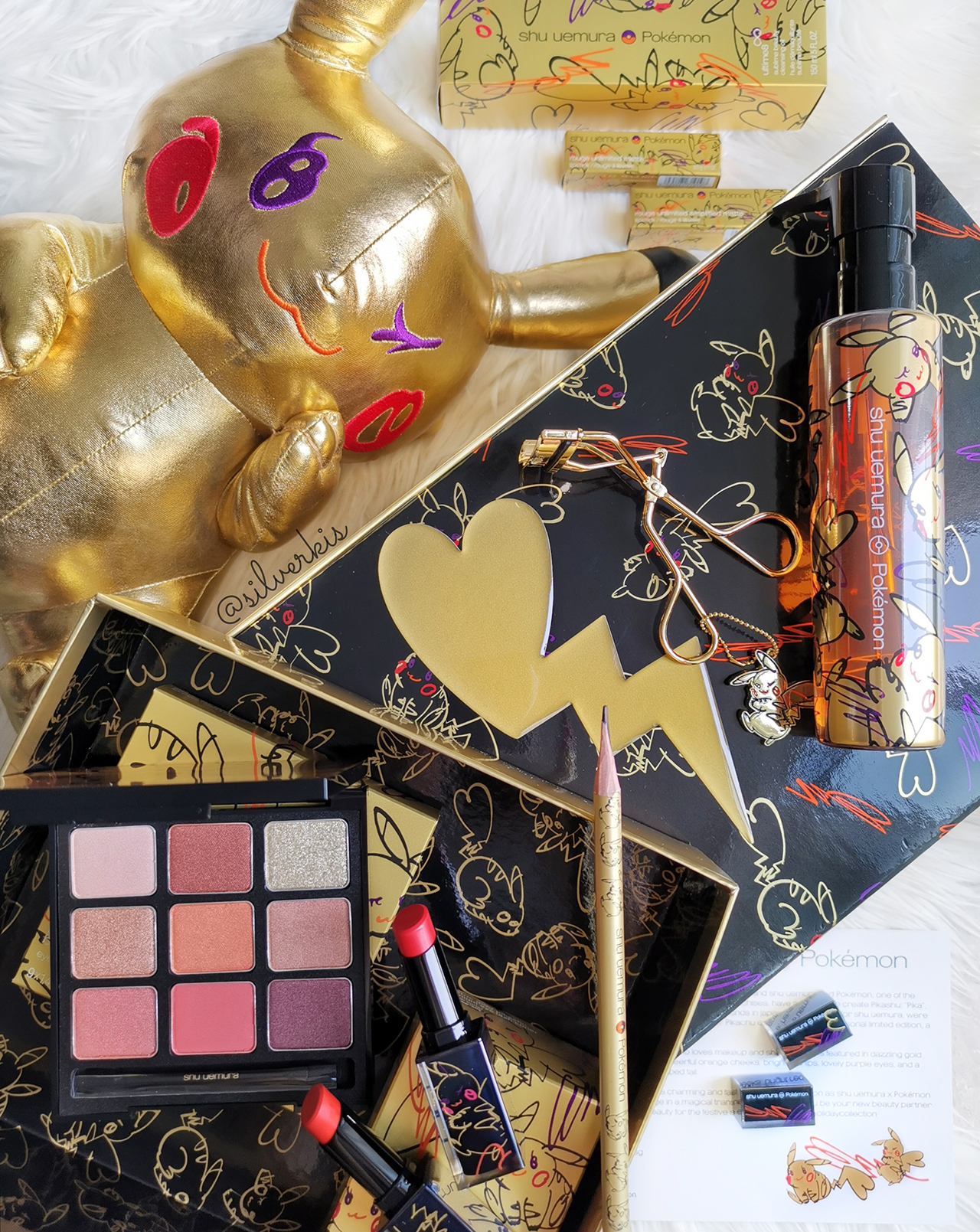 Shu Uemura x Pokemon Pikashu collection for Holiday 2019