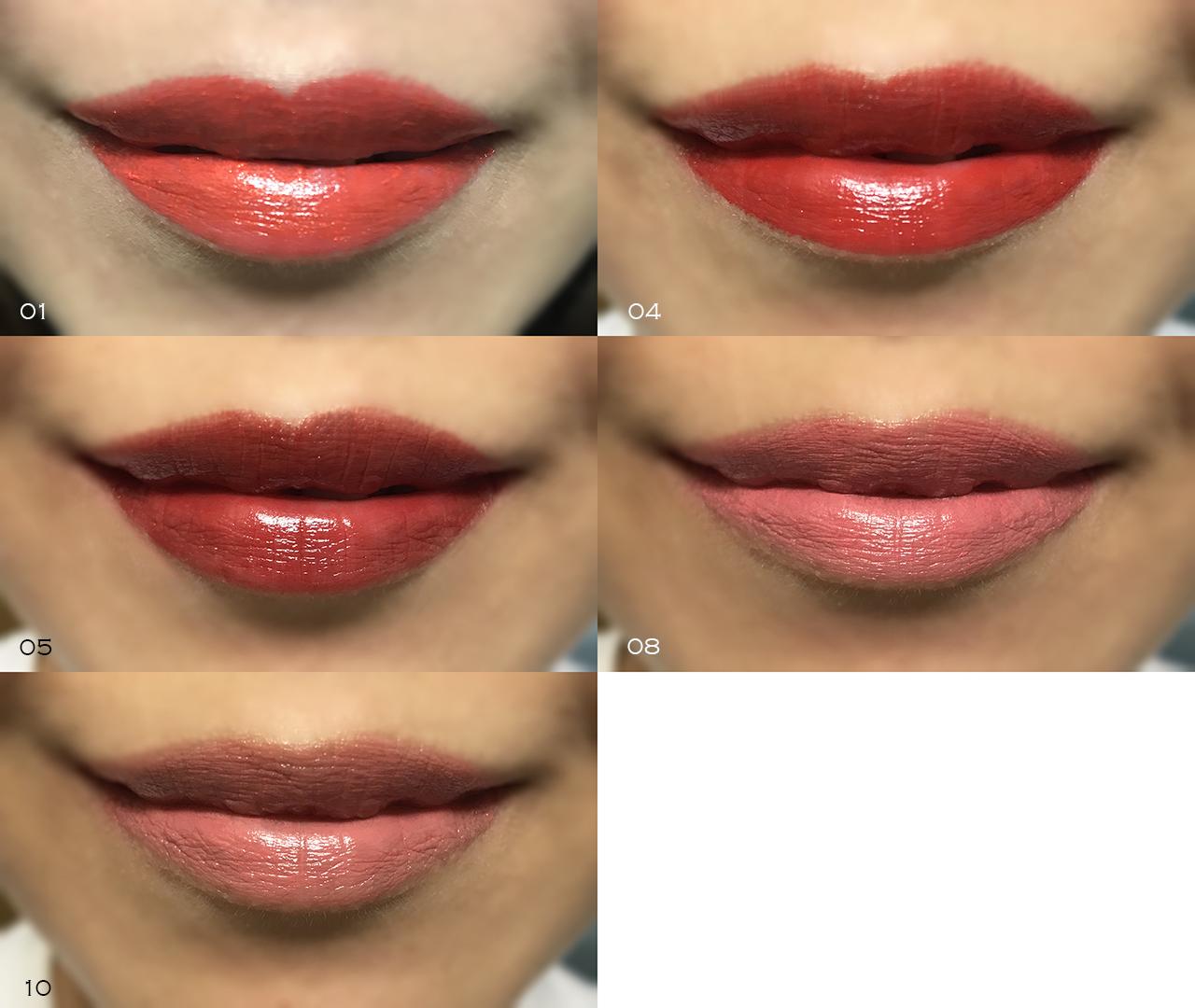 Elegance Lipstick lip swatches