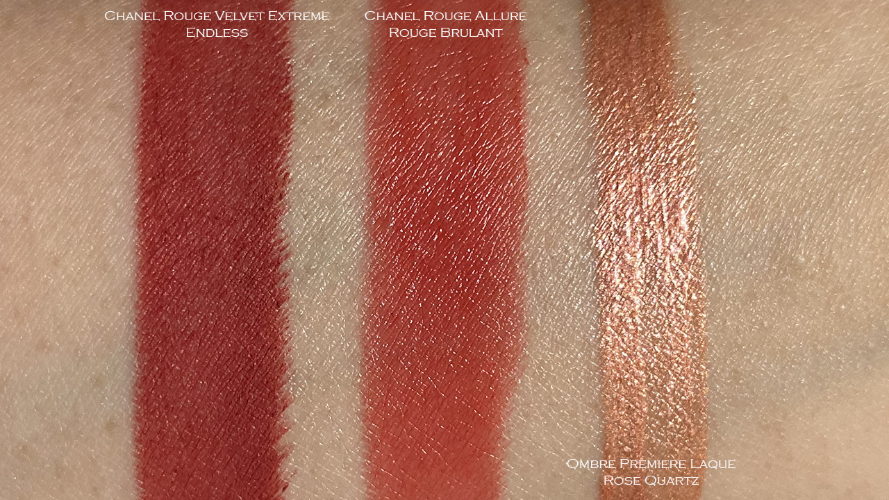 Chanel Desert Dream collection lip swatches