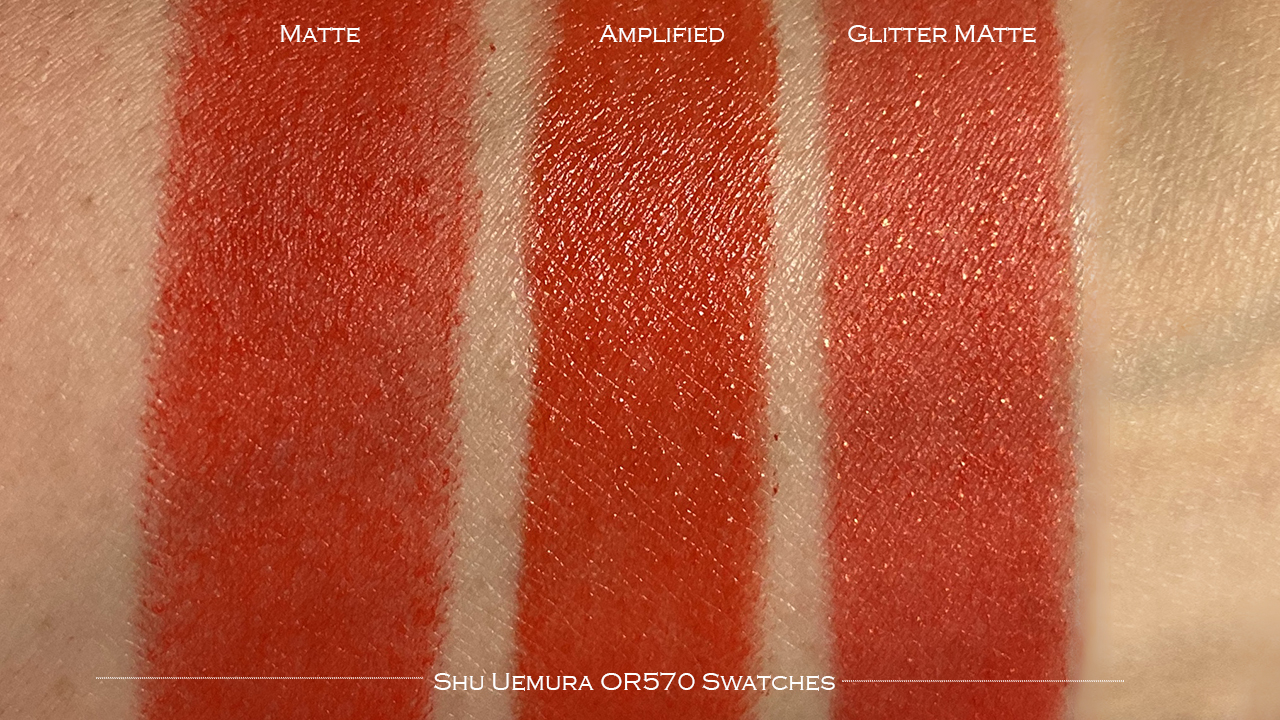 Shu Uemura Rouge Unlimited OR570 swatches