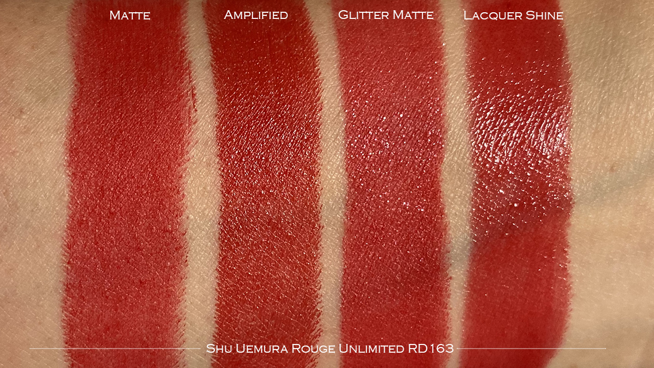 Shu Uemura Rouge Unlimited RD163 swatches