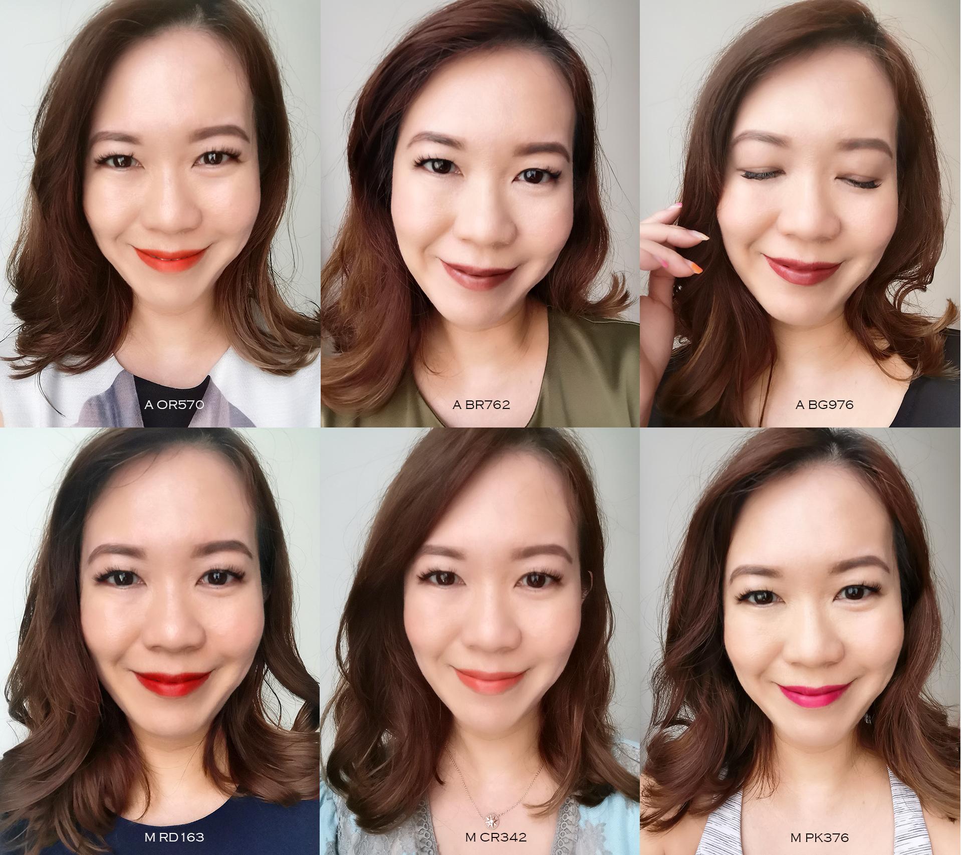 Shu Uemura Rouge Unlimited lip swatches