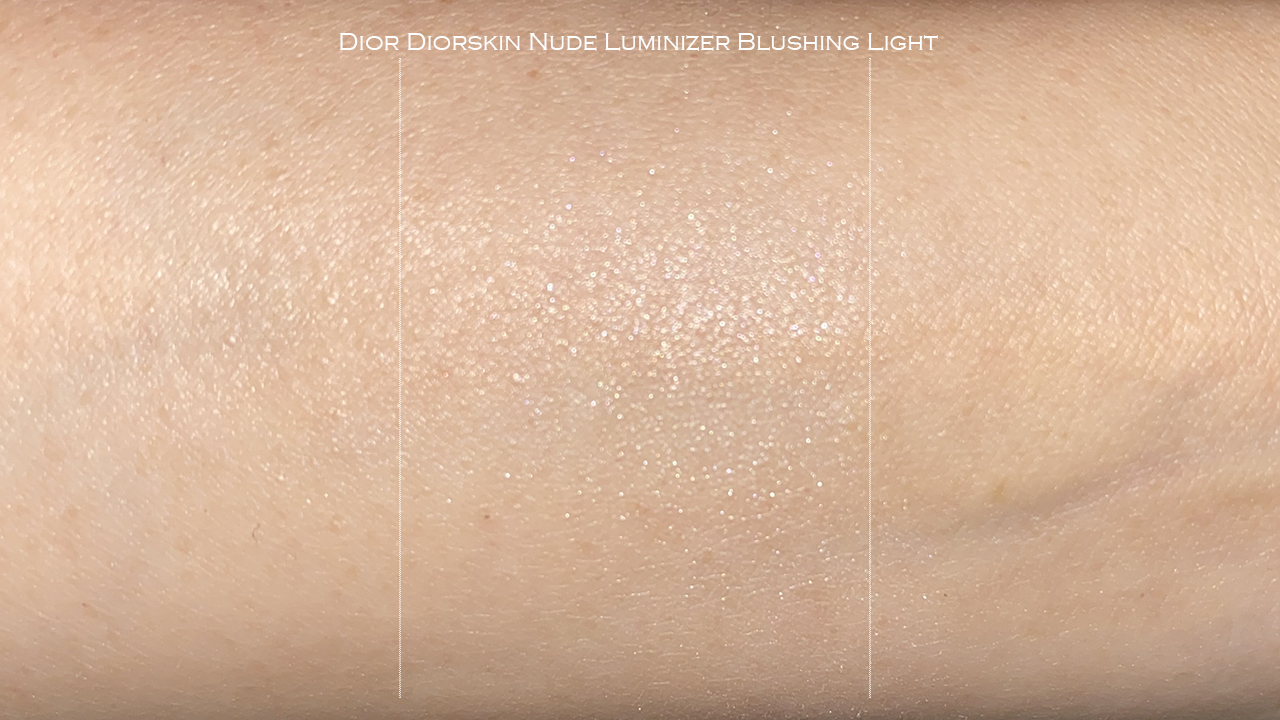 Dior Diorskin Nude Luminizer Blushing Light swatch