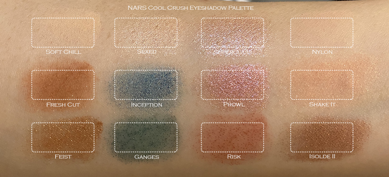 NARS Cool Crush Eyeshadow Palette swatches