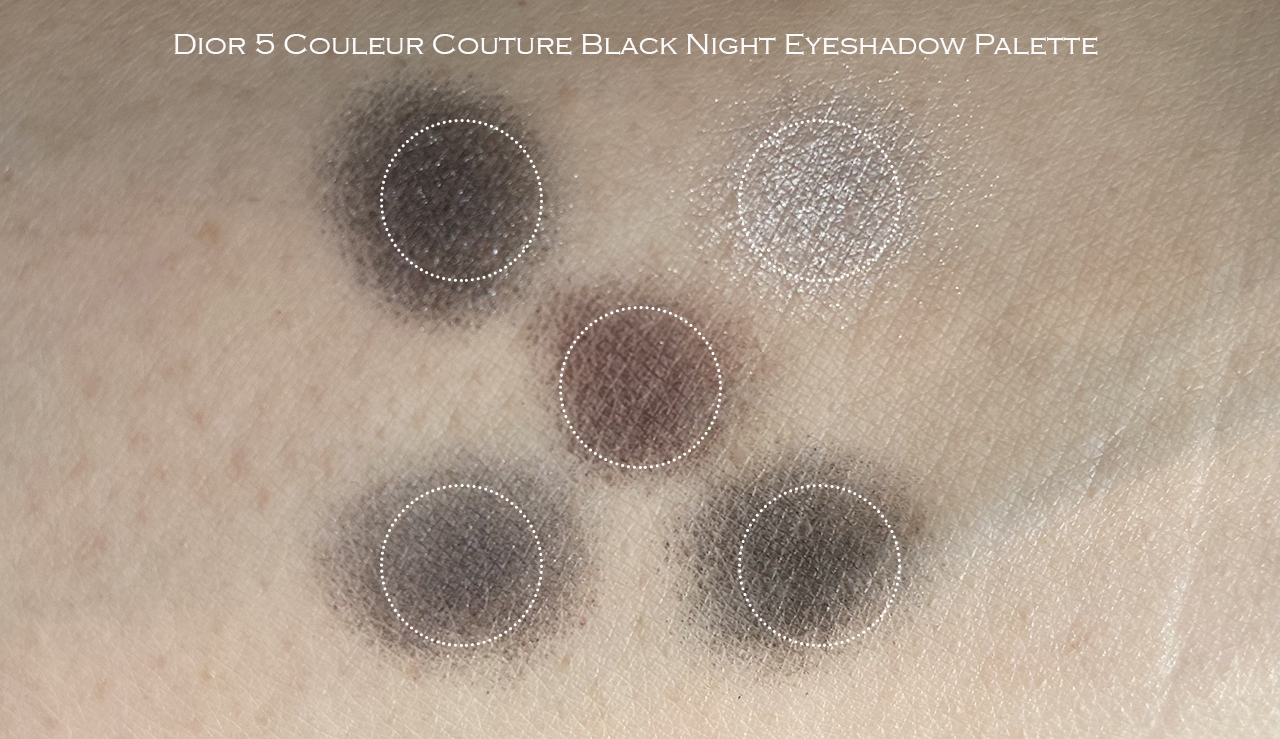 Dior 5 Couleurs Couture Black Night swatches
