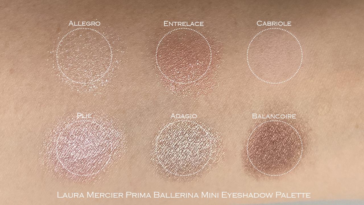 Laura Mercier Prima Ballerina Eyeshadow Palette swatches