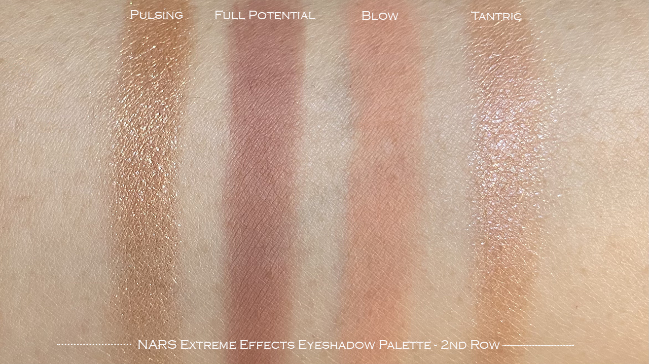 NARS Extreme Effects Eyeshadow Palette 2nd row swatches