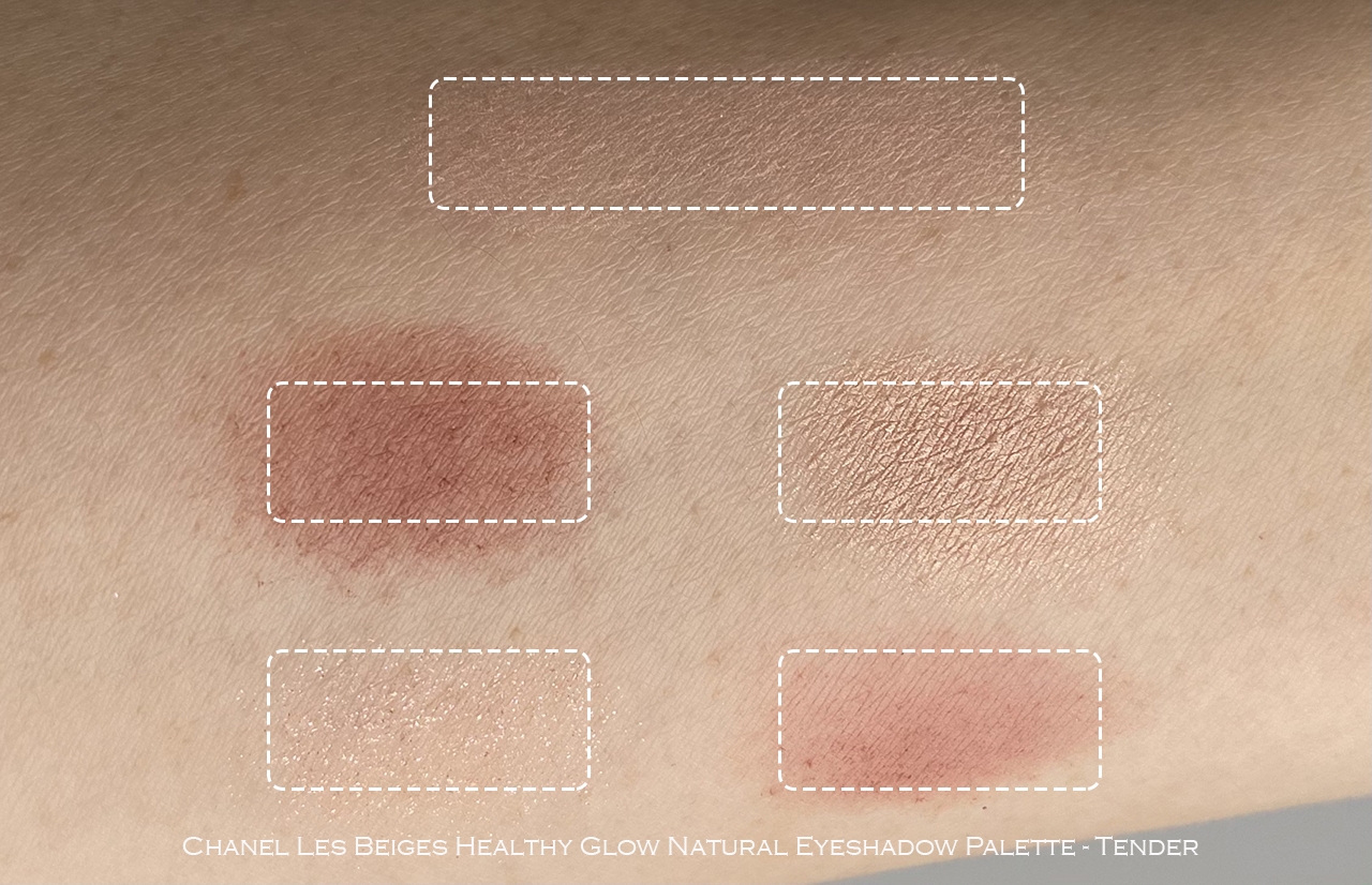 Chanel Les Beiges Healthy Glow Natural Eyeshadow Palette Tender swatches