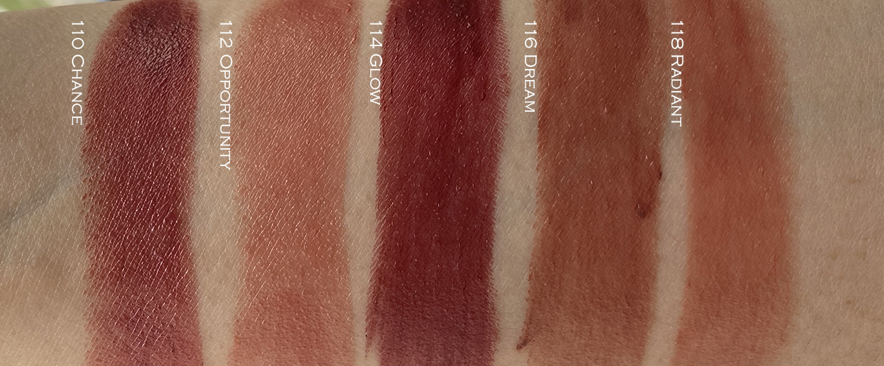 Chanel Rouge Coco Bloom Swatches 110-118