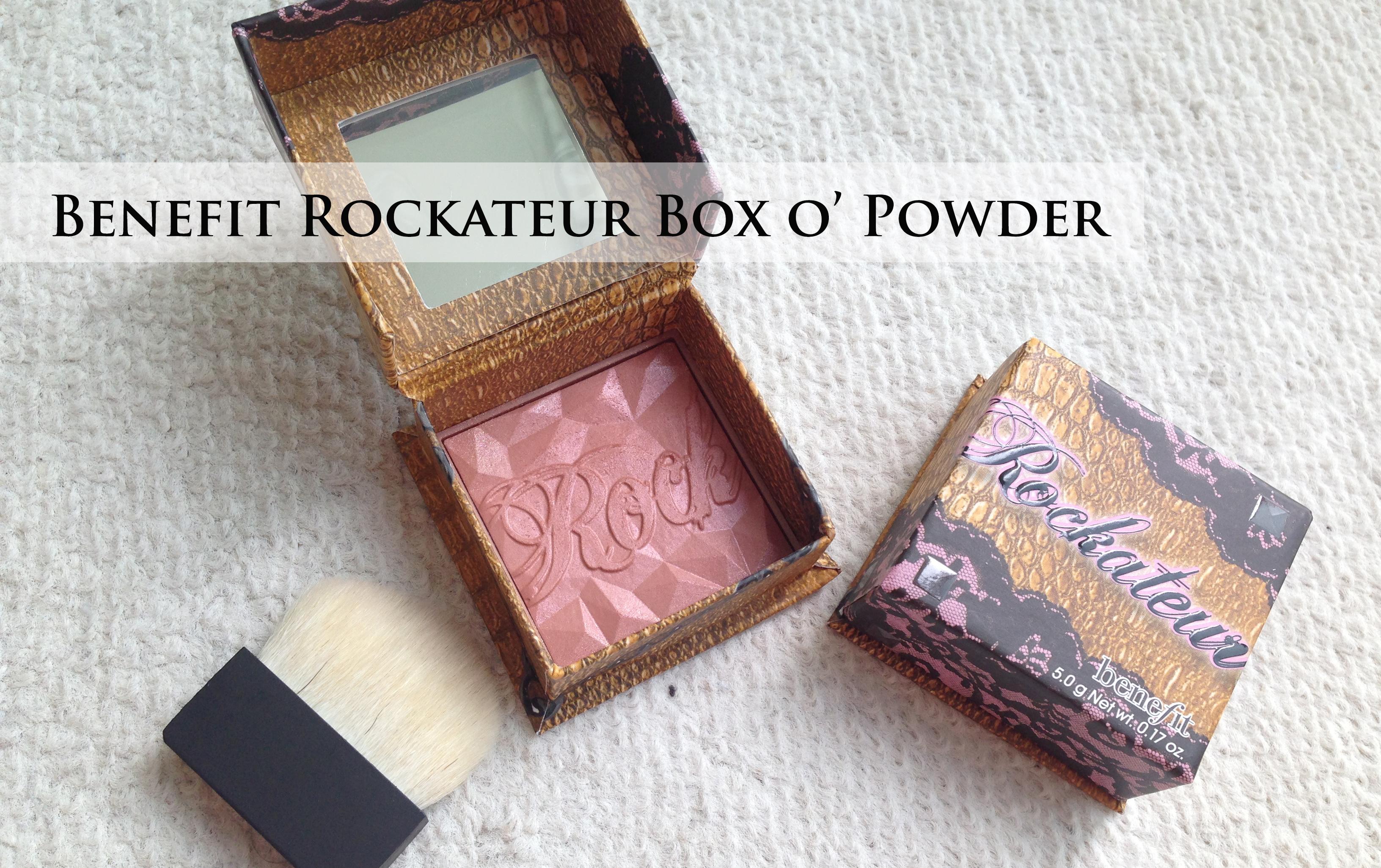 Benefit Rockateur Box O Powder Blush Vs Chanel Accent
